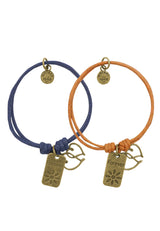 Forever Hearts Couple/ Friendship Cotton Bracelet (Set of Two)