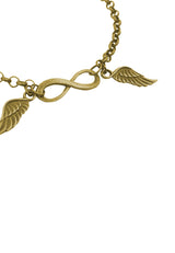 Tiny Infinity with Wings Charm Bracelet