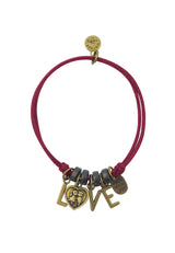 LOVE You Beaded Cotton Bracelet in Multiple Color Options