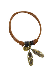 Keep the Wild in You (Double Feathers) Cotton Bracelet in Multiple Color Options