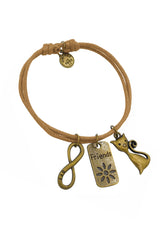 Passionate Kitten Friendship Cotton Bracelet in Multiple Color Options