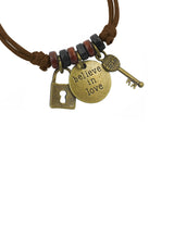 Believe in Love Mantra Cotton Bracelet in Multiple Color Options