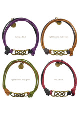 Double Infinity Simplicity Cotton Bracelet in Multiple Color Options
