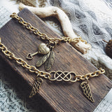 Beautiful Double Infinity and Sister Always Solid Brass Premium Charm Bracelets