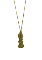Musical Lover Guitar and Wing Unisex Long Necklace