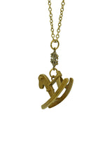 Timeless Treasure Rocking Horse Long Necklace