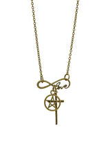 Infinity Love and God Unisex Long Necklace