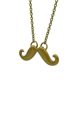 Moustache Love(Small) Long Necklace