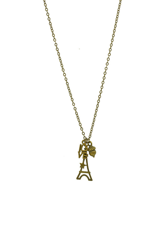 Love and Luck Eiffel Tower Short Necklace