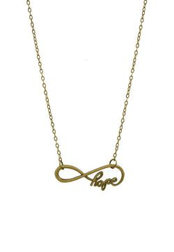 Infinity Hope Minimalist Short Necklace