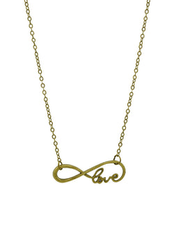 Infinity Love Minimalist Short Necklace