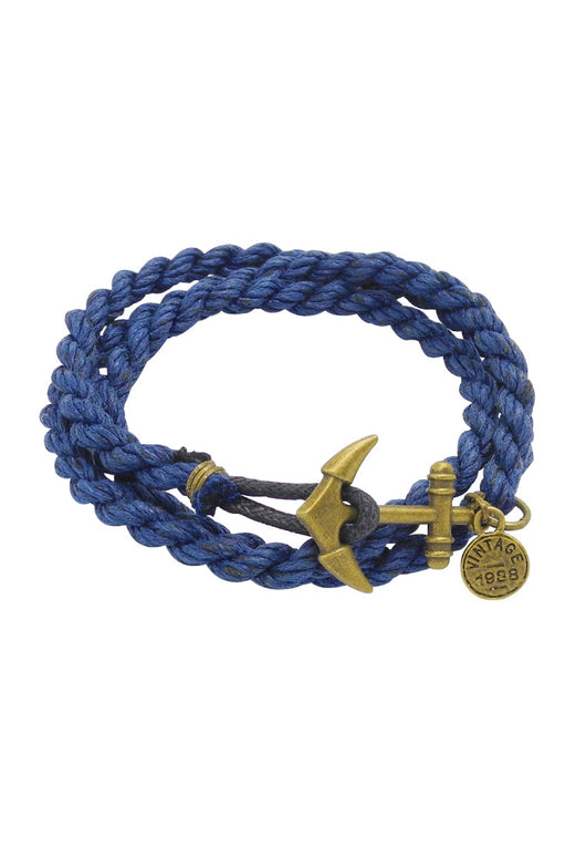 Signature Anchor Wrap Unisex in Vintage Navy Blue