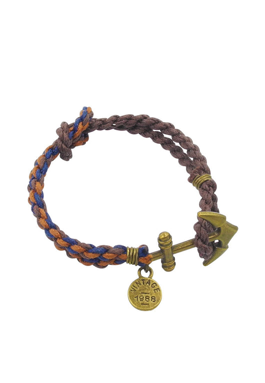 Charlie's Nautical Anchor Wrap Unisex in Native Brown II