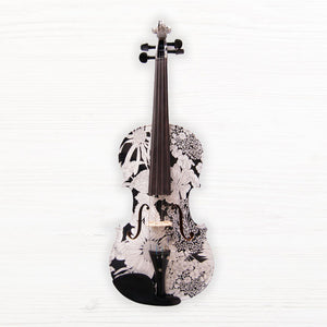 Geneva Art Violin - White Flower Medley