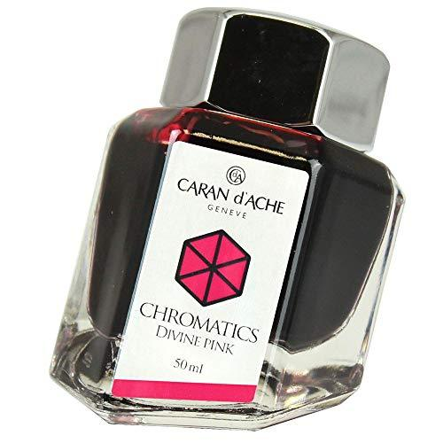Caran d'Ache 50ml Chromatics Ink Bottle - Divine Pink