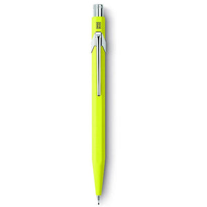 Caran D'ache 844: Mechanical-pencil Metal Fluo Yellow 0.7 mm (844.470) - GoldenGenie