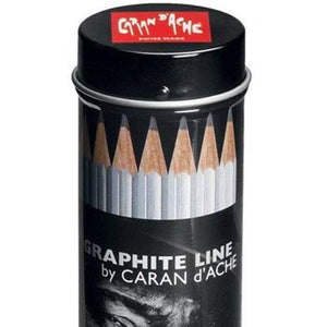 Caran d'Ache Grafwood 15 Piece Round Tube Set - GoldenGenie