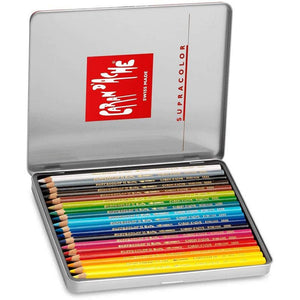 CREATIVE ART MATERIALS Caran D'ache Supracolor Metal Box Set Of 18 (3888.318) - GoldenGenie