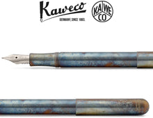 Load image into Gallery viewer, Kaweco Liliput Steel Fireblue Pocket Fountain Pen - Medium Nib - GoldenGenie.jpg