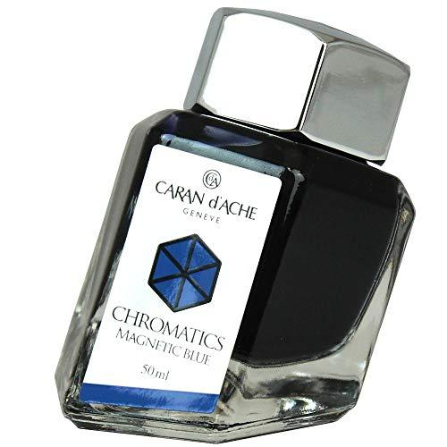 Caran d'Ache 50ml Chromatics Ink Bottle - Magnetic Blue