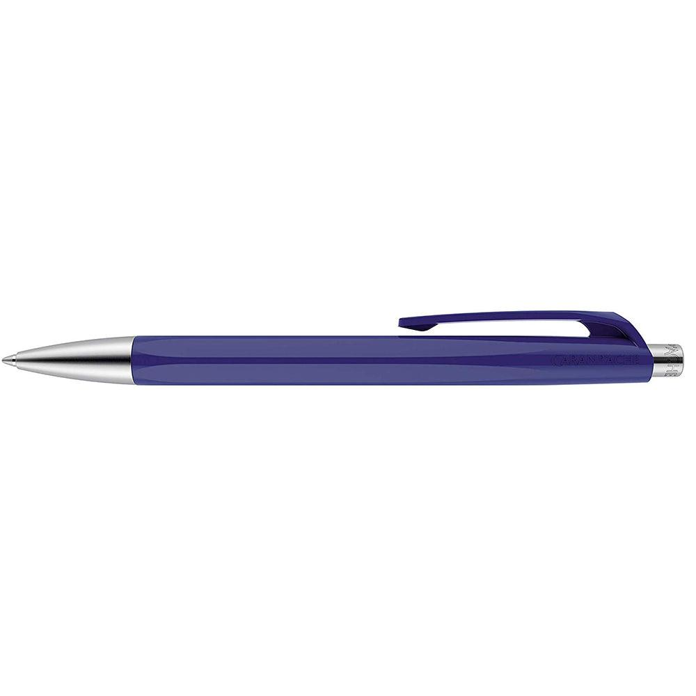 Caran d'Ache 888 Infinite Ballpoint Pen, Night Blue Resin Hexagonal Barrel - GoldenGenie