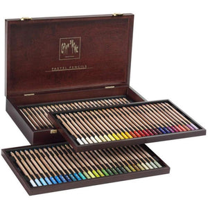 Caran D'ache Set of 84 Pastel Pencils In A Wood Box (788.484) Caran d'Ache