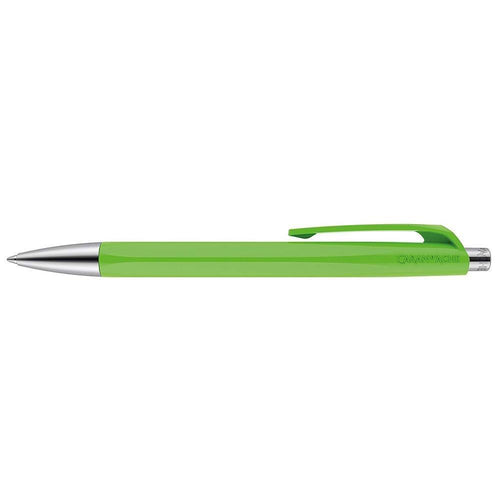 Caran d'Ache 888 Infinite Ballpoint Pen, Spring Green Resin Hexagonal Barrel Caran d'Ache