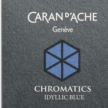 Load image into Gallery viewer, Caran d'Ache Chromatic Ink Cartridge, Idyllic Blue, Pack of 6 (8021.140) Caran d'Ache
