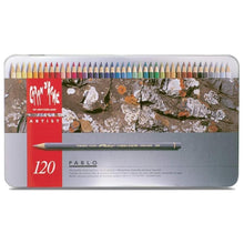 Load image into Gallery viewer, Caran d'Ache Pablo Colored Pencil Set Of 120 Metal Box (666.420) Caran d'Ache