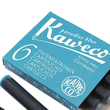 Load image into Gallery viewer, Kaweco Fountain Pen ink cartridge short turquoise - pack of 6 Kaweco