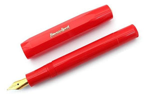 Kaweco Sport Classic Fountain Pen Red B (bold) - GoldenGenie.jpg
