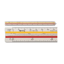 Load image into Gallery viewer, Rotring Ruler Triangular Reduction Scale 6 Surveying 1-25 to 1-2500 with 2 Coloured Flutings Ref S0220721