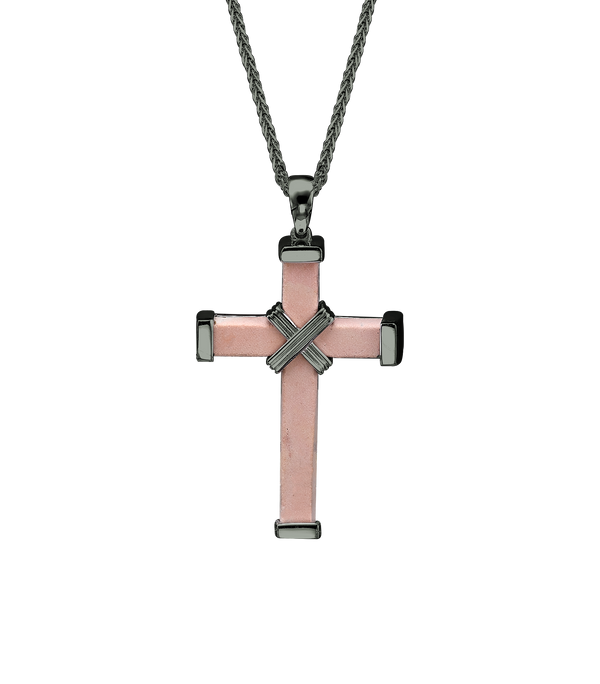 The Eternity Minimalist Cross - Black gold - Medium