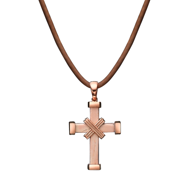 The Eternity Minimalist Vermeil Cross - Rose gold - Small