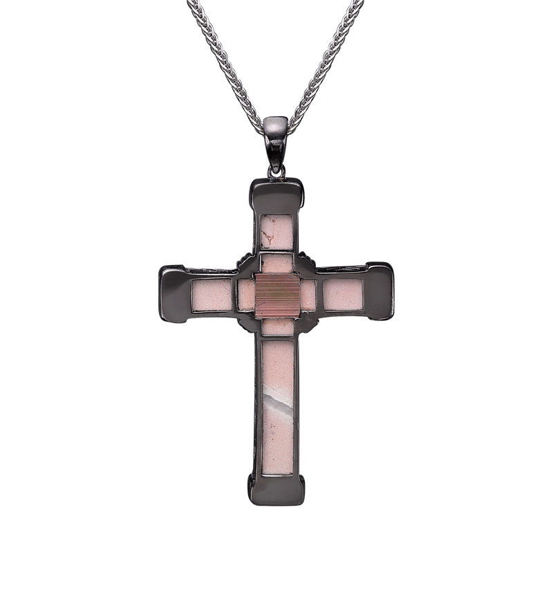 The Eternity Classic Cross - Black Gold - White Diamonds - Medium
