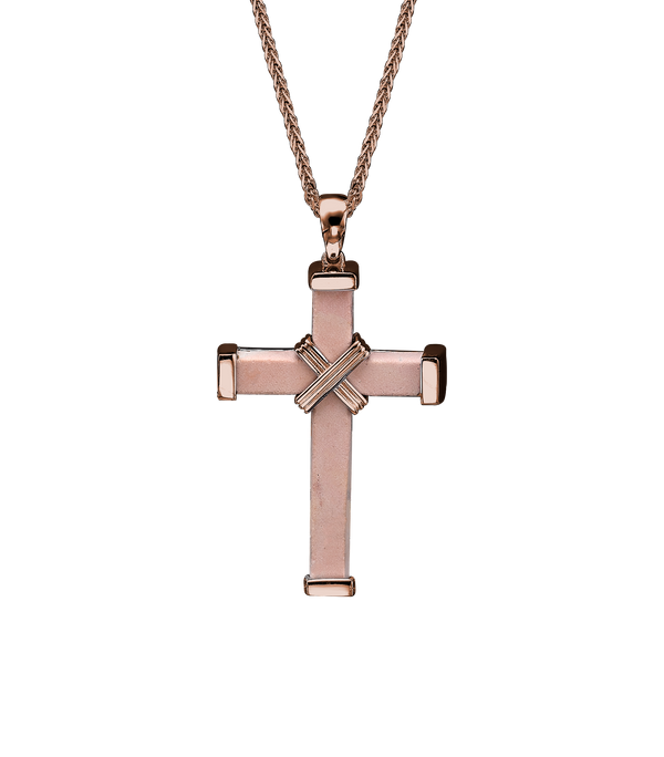 The Eternity Minimalist Cross - Rose gold - Medium