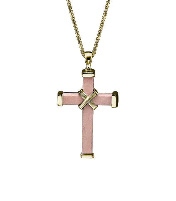 The Eternity Minimalist Cross - Yellow gold - Medium