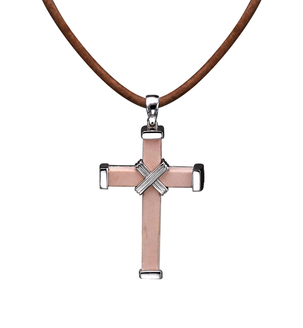 The Eternity Minimalist Vermeil Cross - White gold - Medium