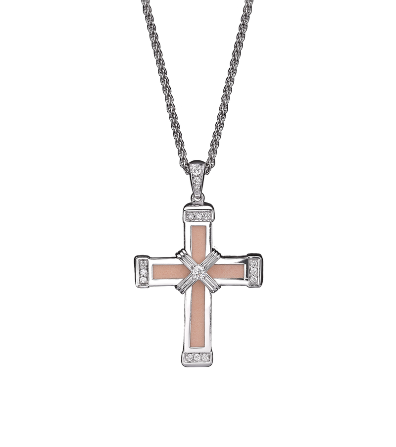 The Eternity Classic Cross - White Gold - White Diamonds - Small