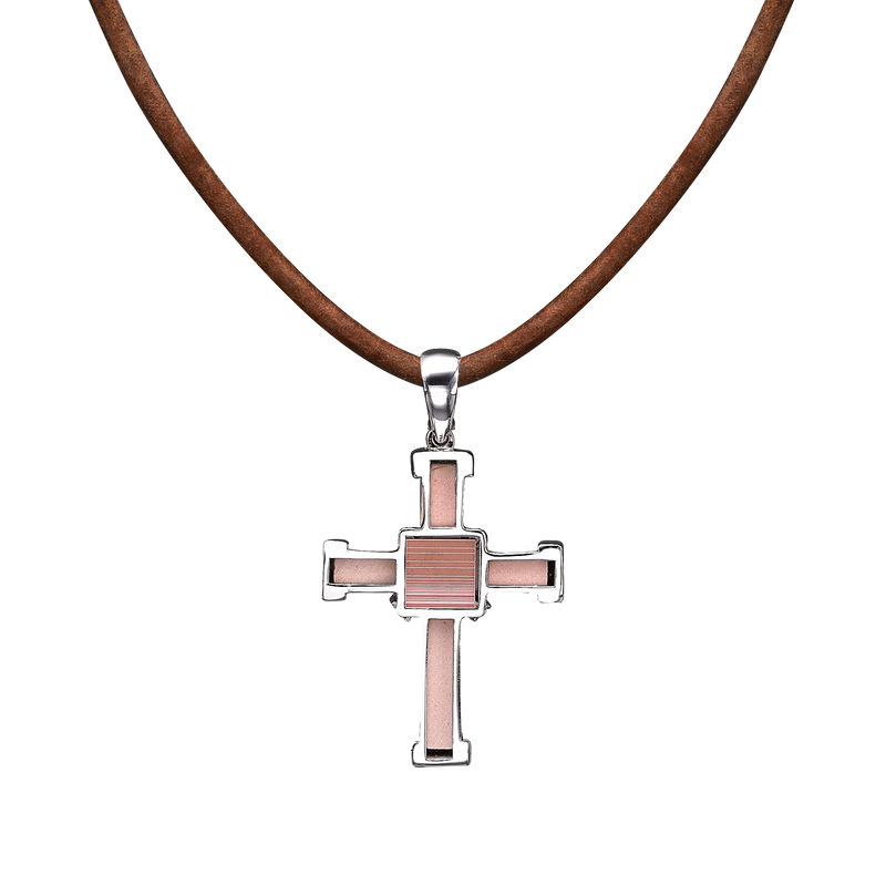 The Eternity Minimalist Vermeil Cross - White gold - Small