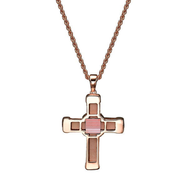 The Eternity Classic Vermeil Cross - Rose Gold - White Diamonds - Small