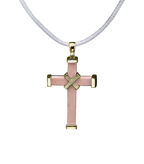 The Eternity Minimalist Vermeil Cross - Yellow gold - Medium