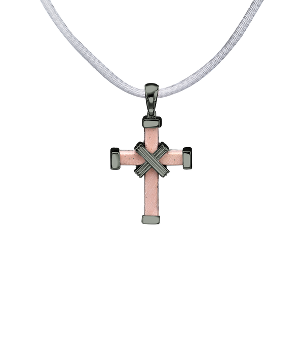 The Eternity Minimalist Vermeil Cross - Black gold - Small