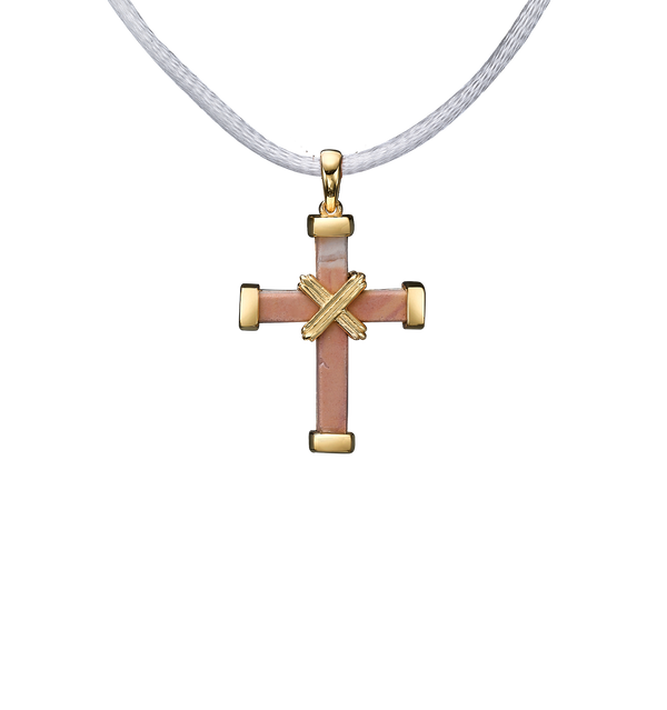 The Eternity Minimalist Vermeil Cross - Yellow gold - Small