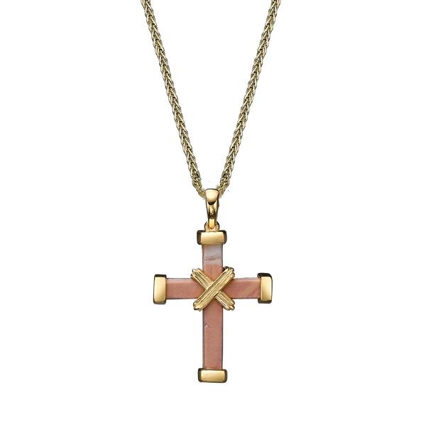 The Eternity Minimalist Cross - Yellow Gold - Small