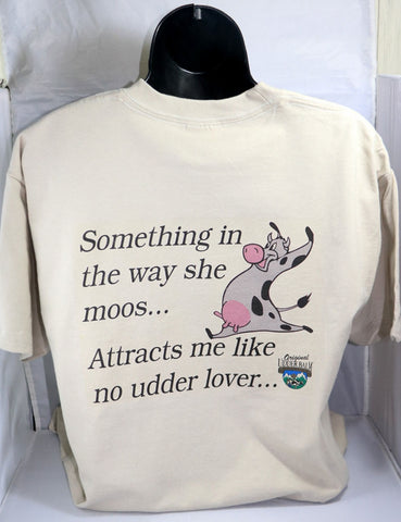 "Original Udder Balm T-shirt ""Attracts me like no udder"""