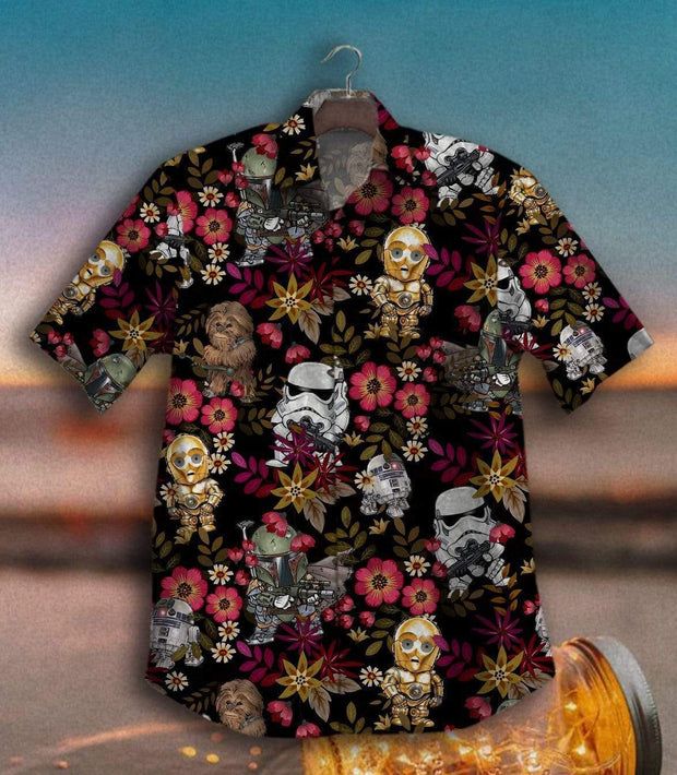 TAWO™ - Storm Trooper Starz War Vintage Hawaiian Shirt 100% Cotton