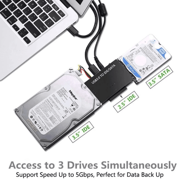 Convyx™ - USB3.0 to SATA IDE Hard Disk Adapter Converter