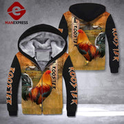 Kukoola™ - Rooster ranch grass 3D printed hoodie