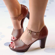 NeENA™- Tinpudding Chunky Heel Ankle Strap Elegant Shoes Working Daily Shoes